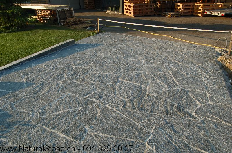 Maggia Gneis Mosaikplatten Gartenplatten